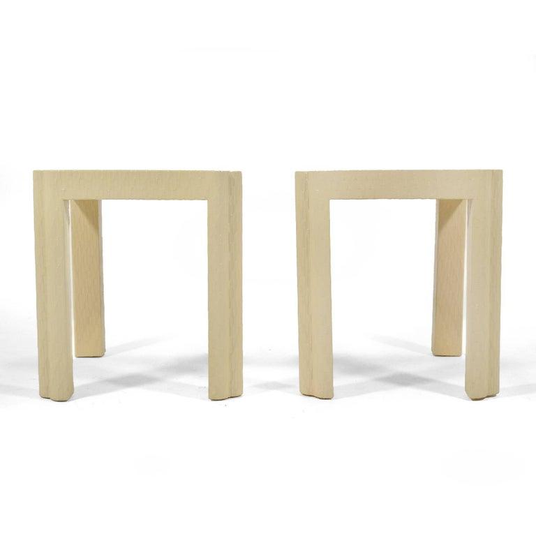 Karl Springer Style End Tables 3