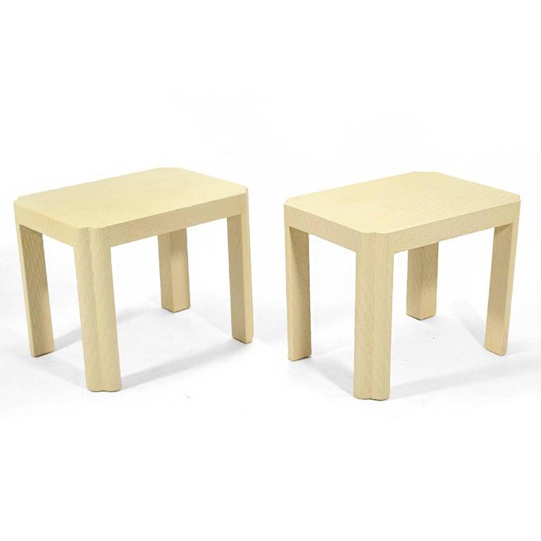 American Karl Springer Style End Tables For Sale