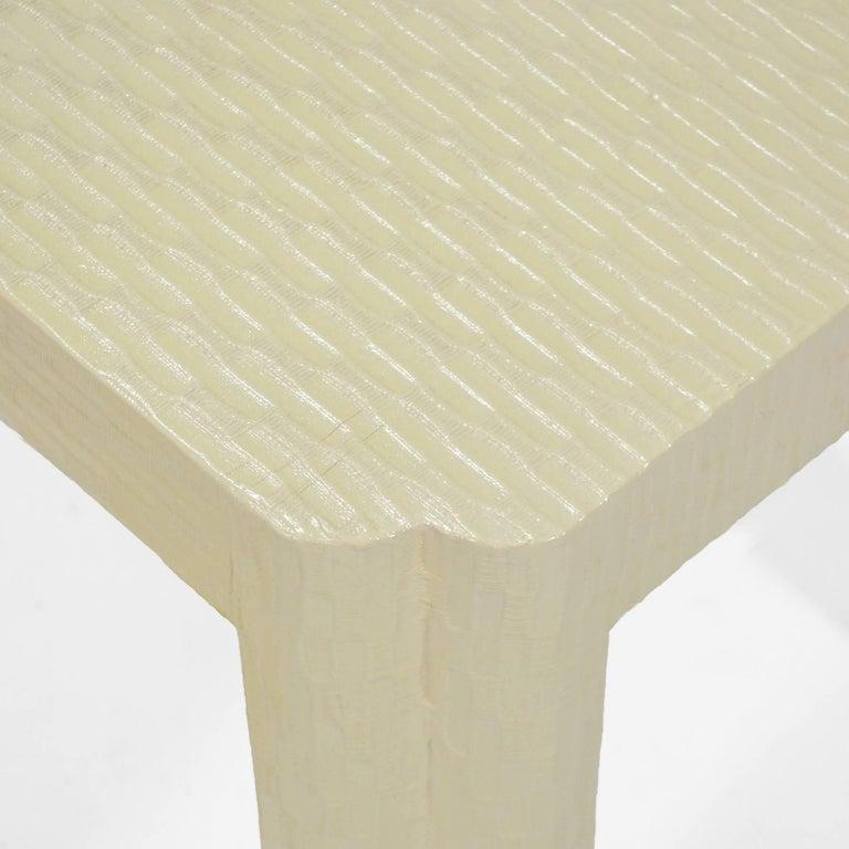 Wood Karl Springer Style End Tables For Sale