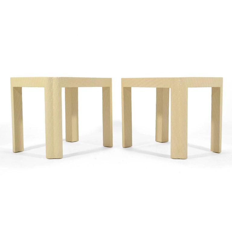 Karl Springer Style End Tables For Sale 2