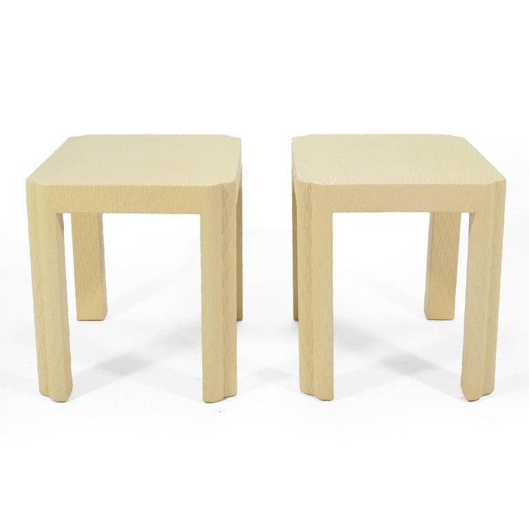 Karl Springer Style End Tables For Sale 3
