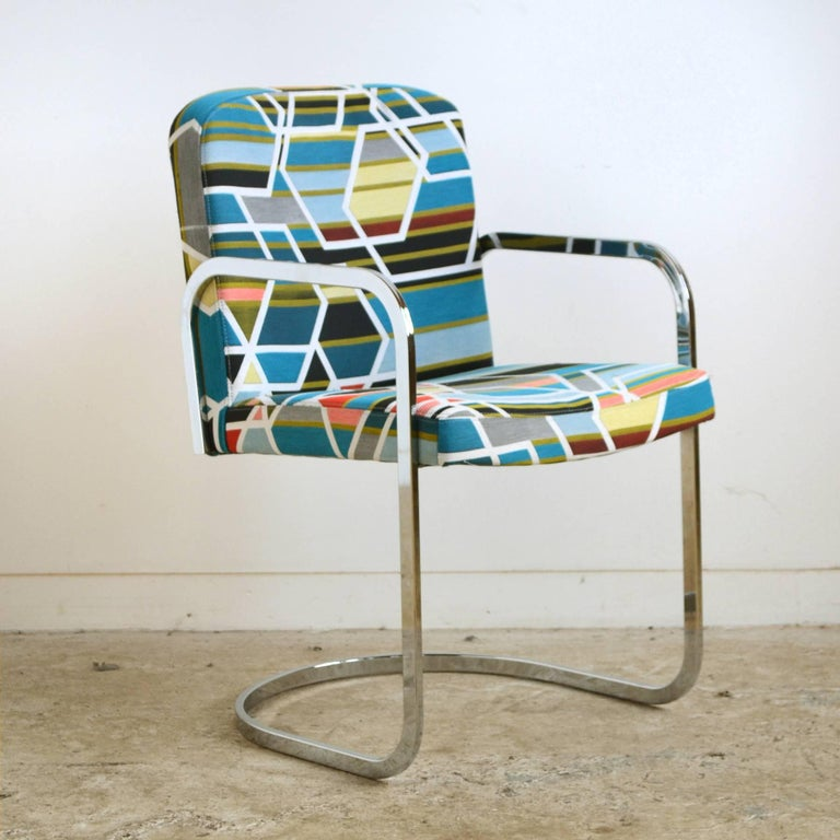 Mid-Century Modern Design Institute of America Set of Four Chairs with Maharam Fabric For Sale