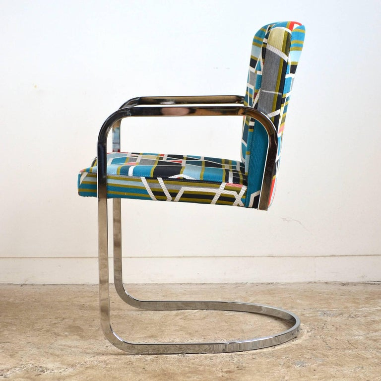 Late 20th Century Design Institute of America Set of Four Chairs with Maharam Fabric For Sale