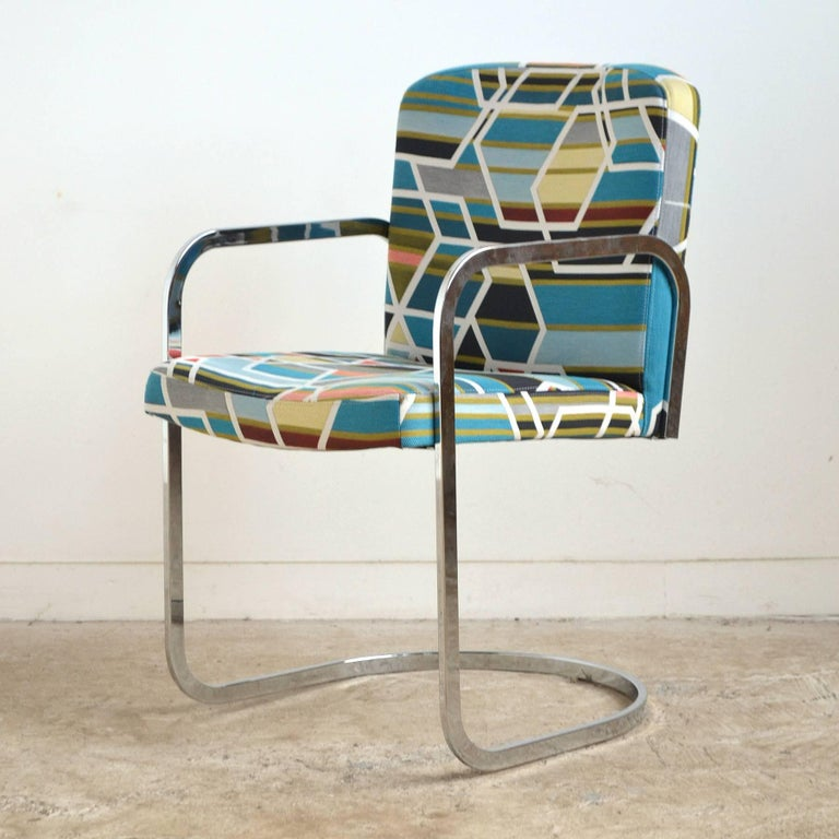 Design Institute of America Set of Four Chairs with Maharam Fabric For Sale 1
