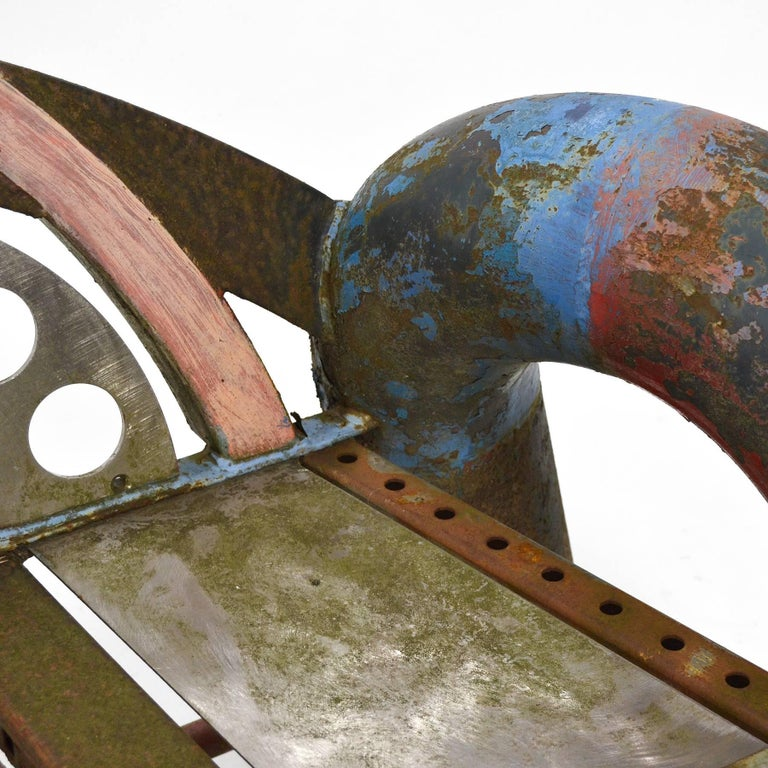 Painted Gordon Chandler Bench Sculpture For Sale