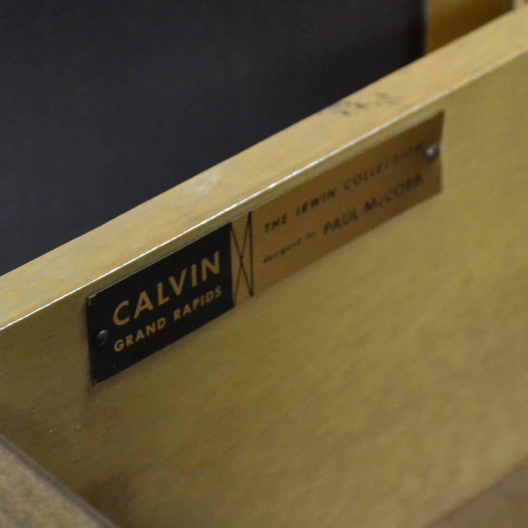 Paul McCobb Cabinets or Credenzas with Travertine Tops by Calvin 9