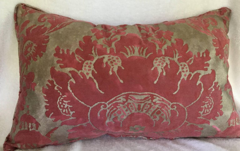 Baroque Pair of Rectangular Fortuny Cushions For Sale