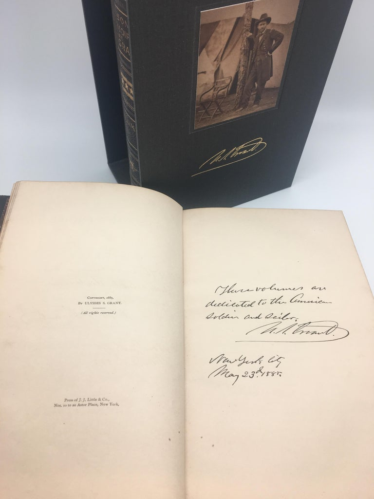 Personal Memoirs of U.S. Grant, special edition two volume set, 1885-1886  Grant, Ulysses S., Personal Memoirs of U.S. Grant, New York: Charles L. Webster and Co., 1885-1886. Special edition, two volume set. Octavo, period leather bindings with