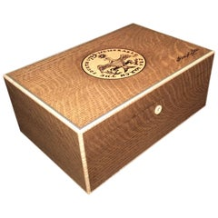 Handcrafted Cigar Humidor, Stamped with George Washington's Inaugural Seal