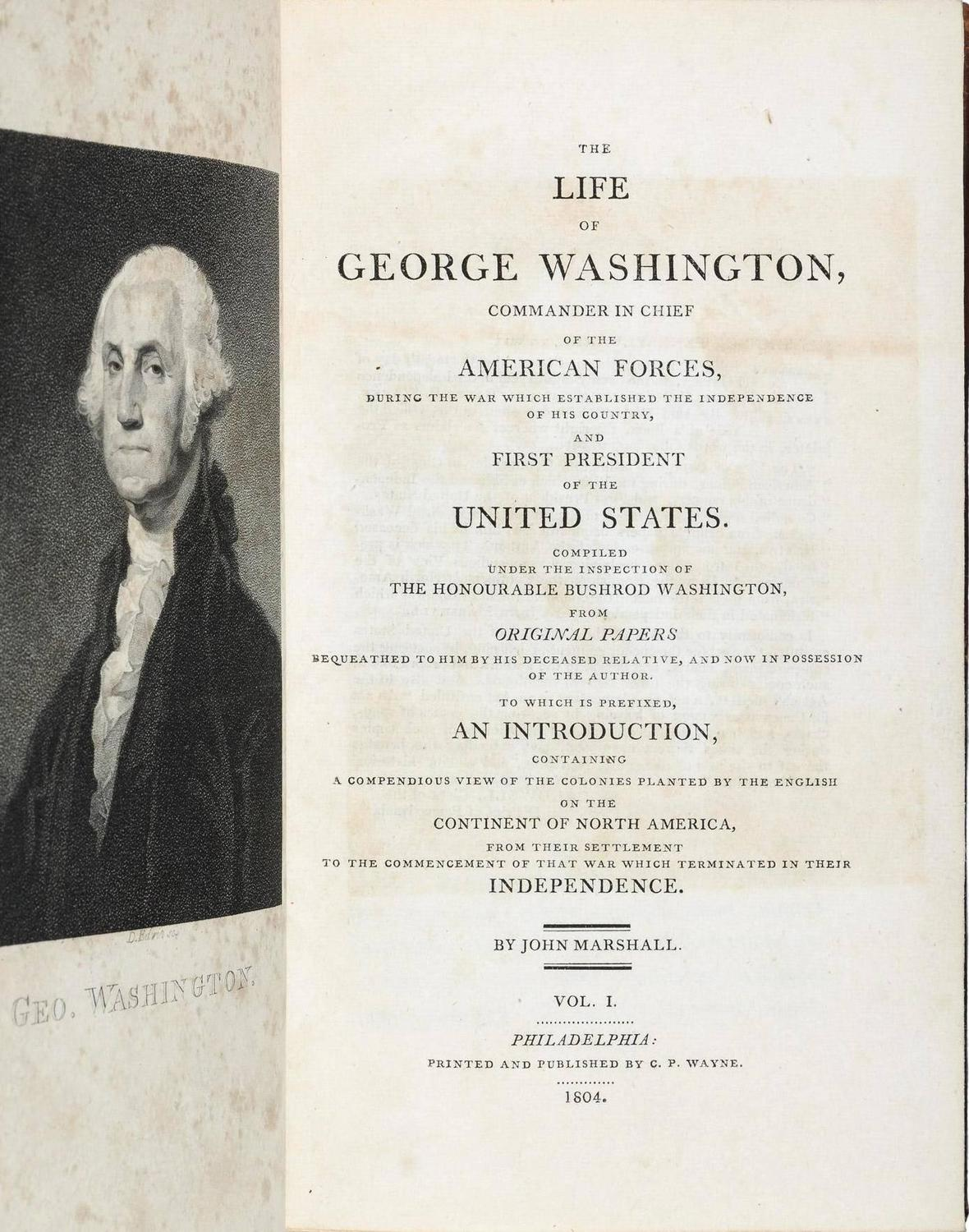 The Life of George Washington by Bancroft Aaron D D