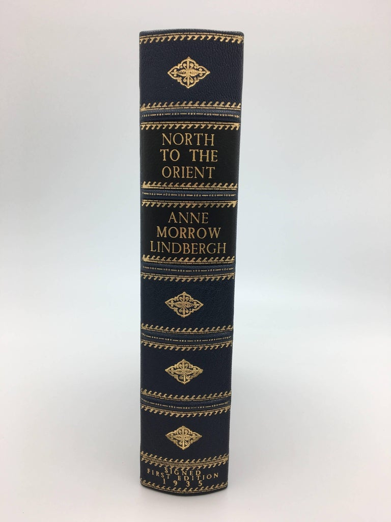 Lindbergh, Anne Morrow. North to the Orient. New York: Harcourt Brace, (1935). Octavo, first edition, original blue cloth, original dust jacket and housed in a custom leather and cloth clamshell.