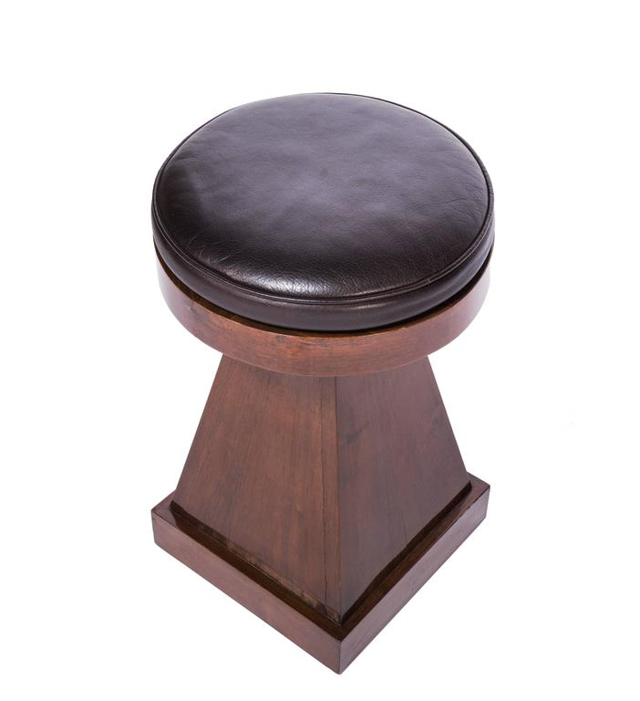 Mid-20th Century French Adjustable Stool For Sale