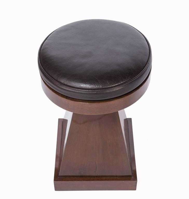 Mid-Century Modern French Adjustable Stool For Sale