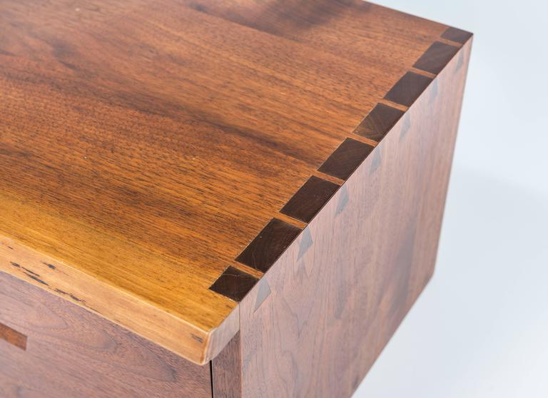 George nakashima wall mounted nightstands at 1stdibs for Wall hung nightstand