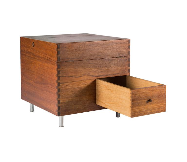 Scandinavian Modern  Hans Wegner Cube Bar for Andreas Tuck For Sale