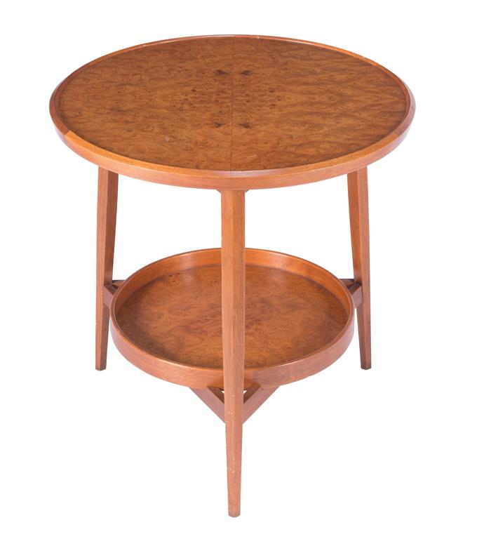 Mid-Century Modern Wormley for Dunbar Table with Removable Tray