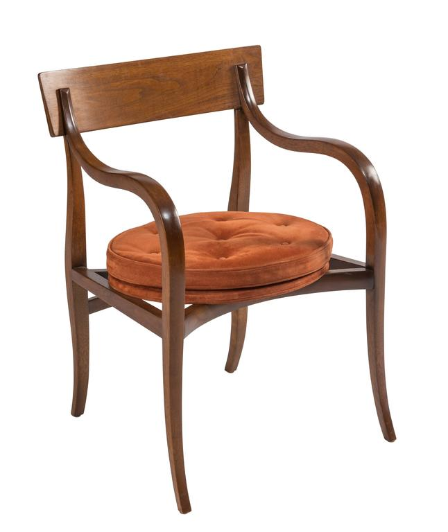 Mid-20th Century Pair of Dunbar Alexandria Chairs by Edward Wormley For Sale