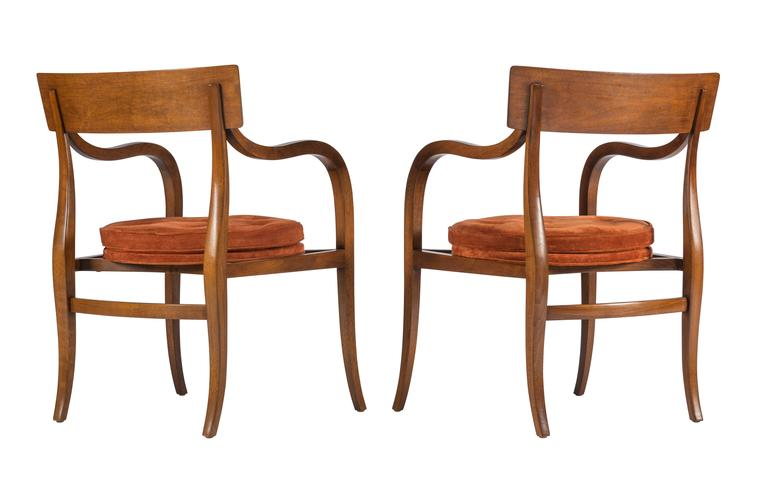 Mid-Century Modern Pair of Dunbar Alexandria Chairs by Edward Wormley For Sale