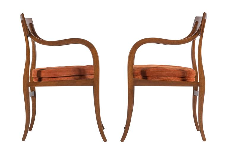 Pair of Dunbar Alexandria Chairs by Edward Wormley 5