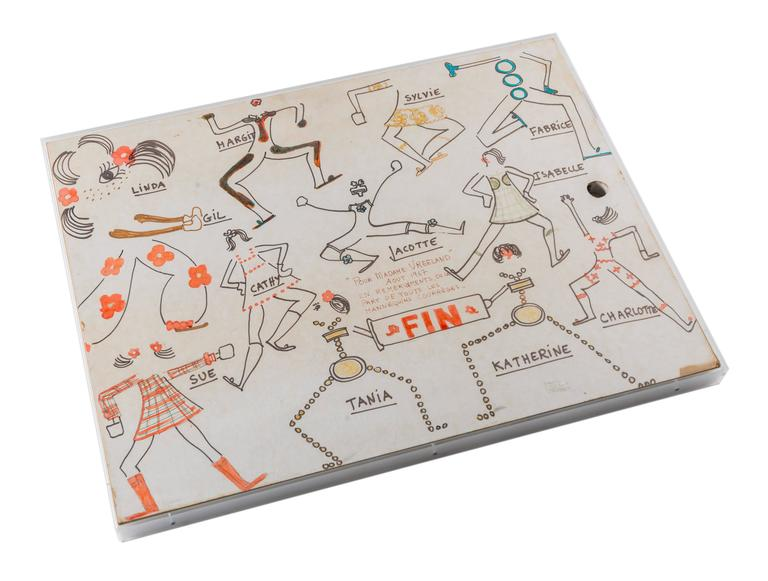 French Original Model Drawing by André Courrèges for Diana Vreeland For Sale