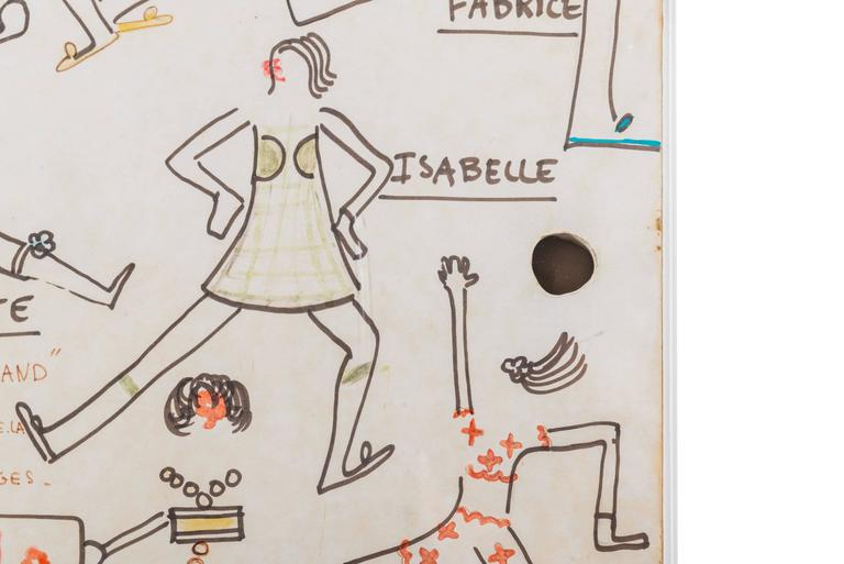 Modern Original Model Drawing by André Courrèges for Diana Vreeland For Sale