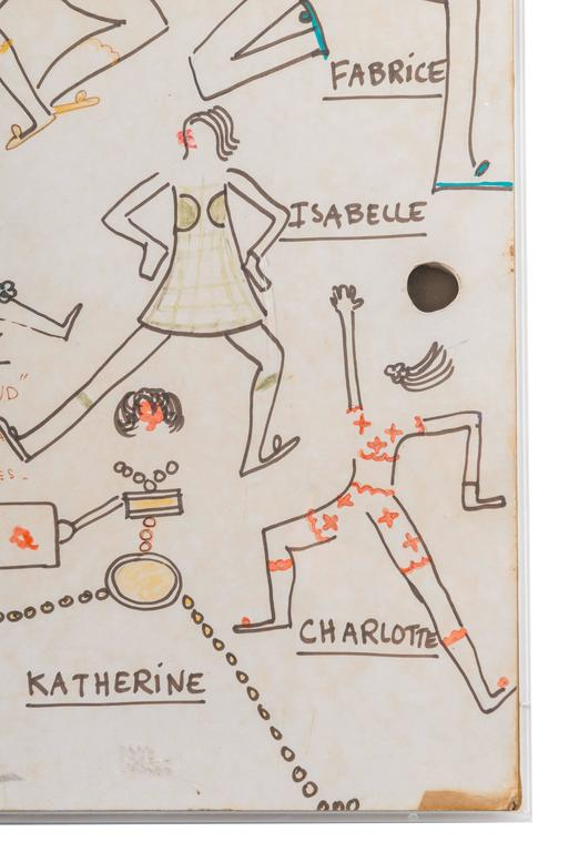 Original Model Drawing by André Courrèges for Diana Vreeland For Sale 1