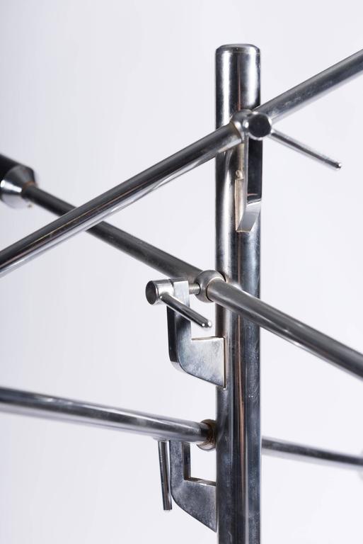 Metal Italian Triennale Floor Lamp For Sale