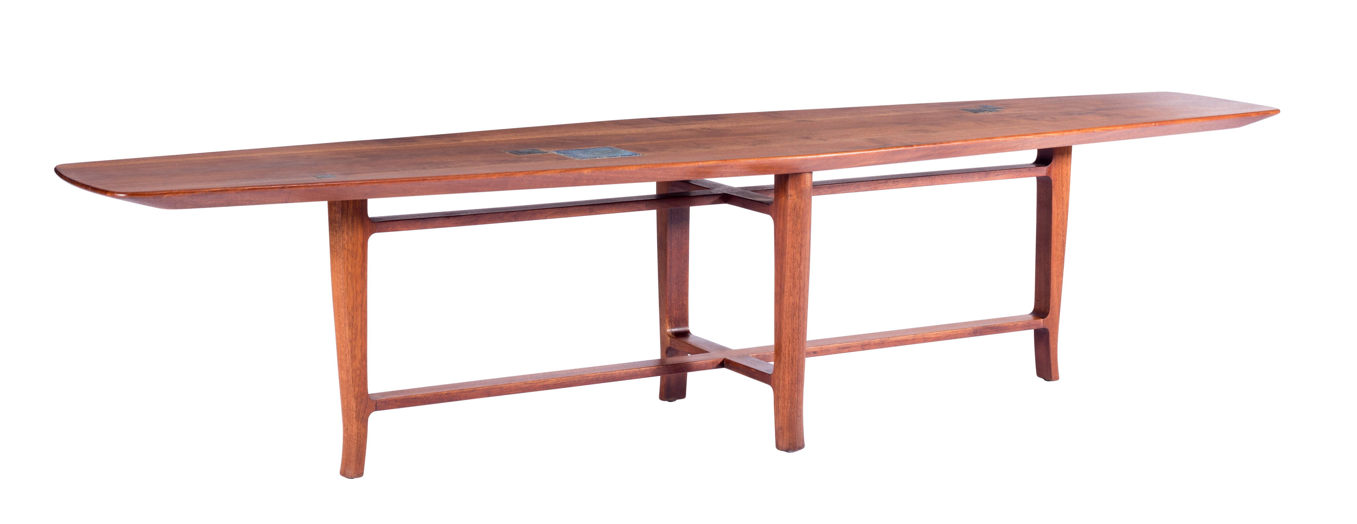 fcb58aa52b30 Dunbar Coffee Table with Tiffany Tiles by Edward Wormley For Sale at 1stdibs