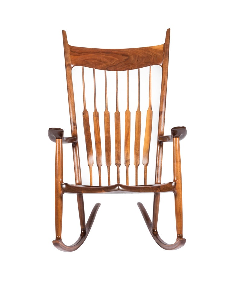 American Early and Unique Sam Maloof Rocker, 1977