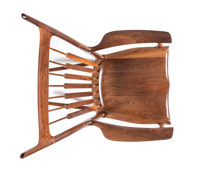 Early and Unique Sam Maloof Rocker, 1977 In Excellent Condition In Pawtucket, RI