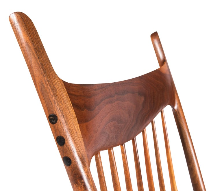 Early and Unique Sam Maloof Rocker, 1977 3