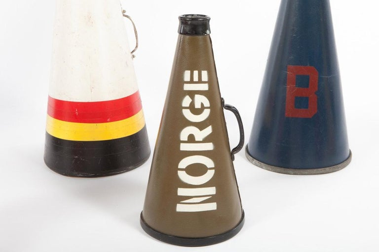 American Collection of Vintage Megaphones For Sale