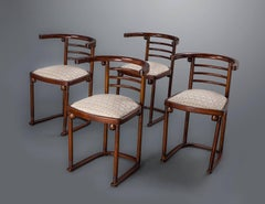"A Set of Four Joseph Hoffmann ""Die Fledermaus"" Chairs by Mundus"