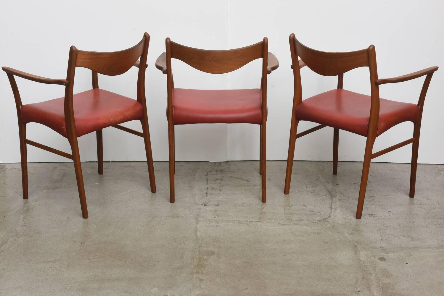 Set of three vintage 1950s danish modern chairs at 1stdibs for Contemporary furniture west palm beach