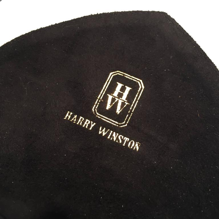 Harry Winston Rare Black and Red Suede Leather Trim Purse/Pocketbook In Excellent Condition For Sale In Westport, CT