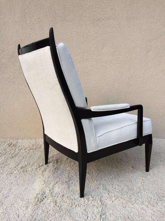 Pair Of Harvey Probber High Back Elegant Club Chairs For