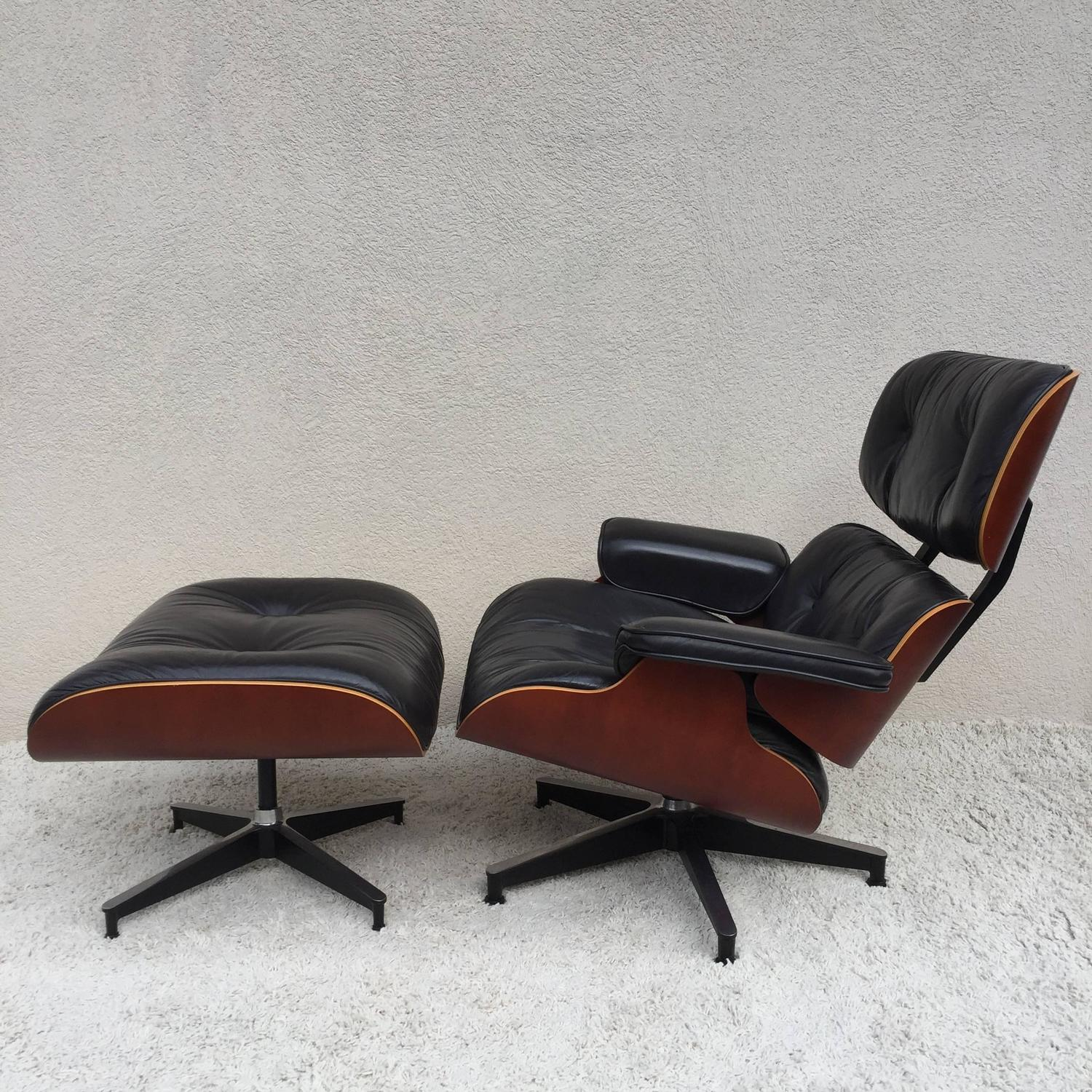 Charles eames lounge chair and ottoman for herman miller - Herman miller eames lounge chair and ottoman ...