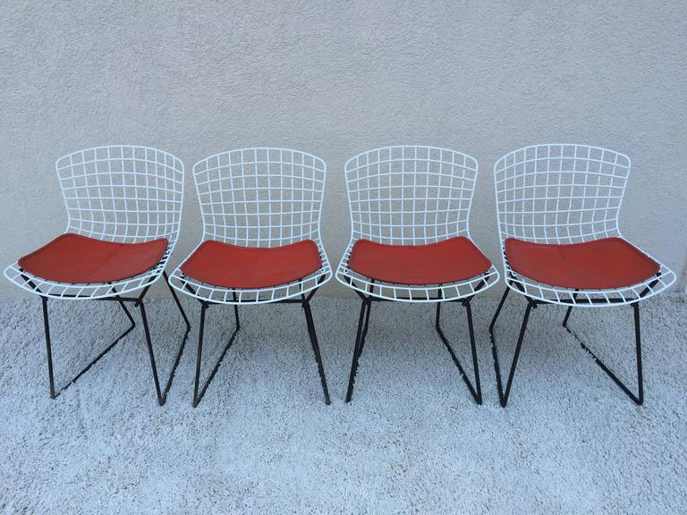 Set Of Harry Bertoia Childs Chairs Original Knoll Orange