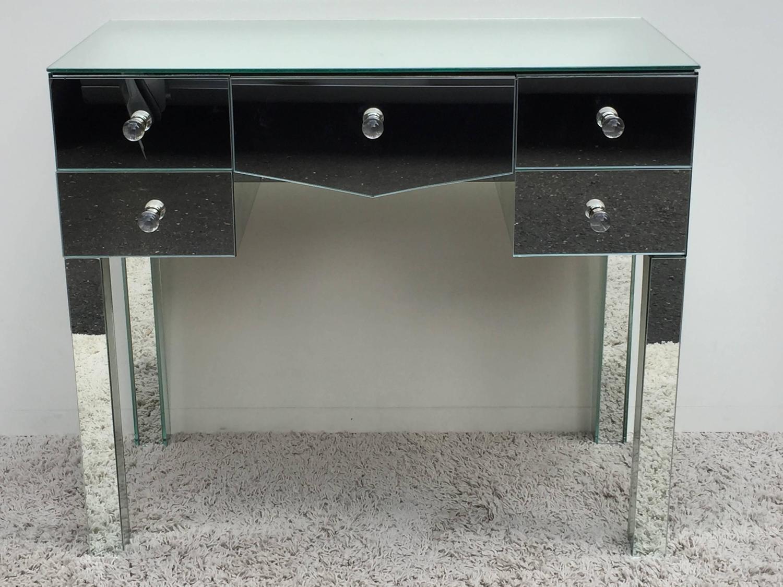 art deco hollywood regency mirrored glass vanity for sale at 1stdibs. Black Bedroom Furniture Sets. Home Design Ideas