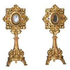 Pair of exceptional Italian reliquaries