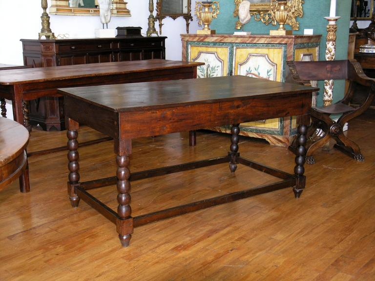19th Century Chestnut Center Table For Sale at 1stdibs