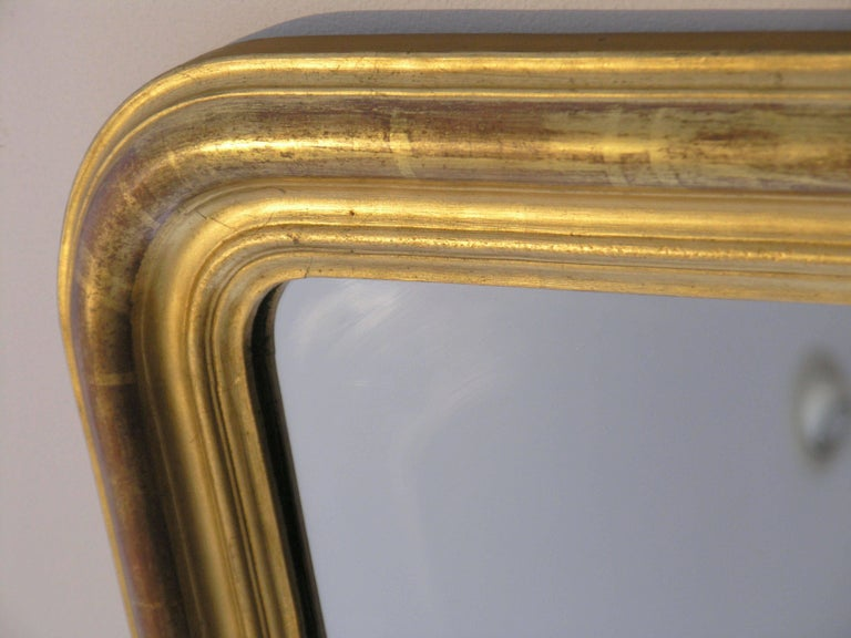 The arched rectangular plate within a molded giltwood border