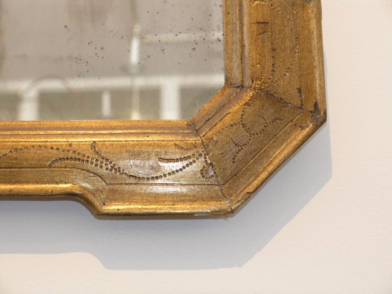 French 19th Century Louis Philippe Giltwood Mirror For Sale