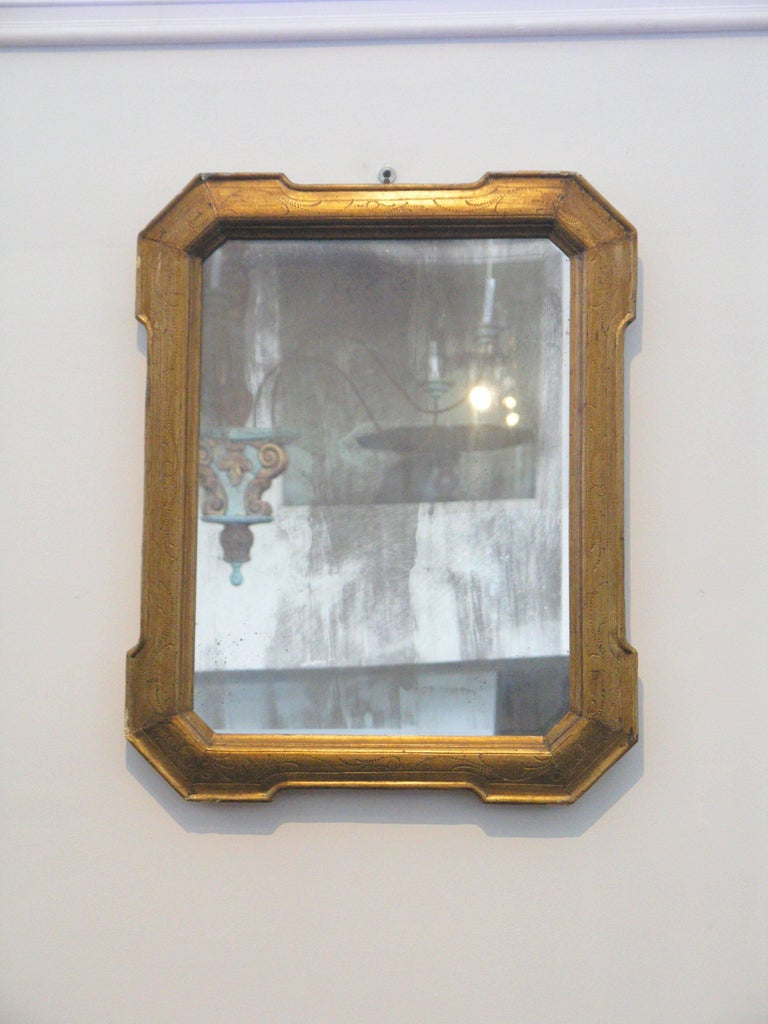 19th Century Louis Philippe Giltwood Mirror In Excellent Condition For Sale In Los Angeles, CA