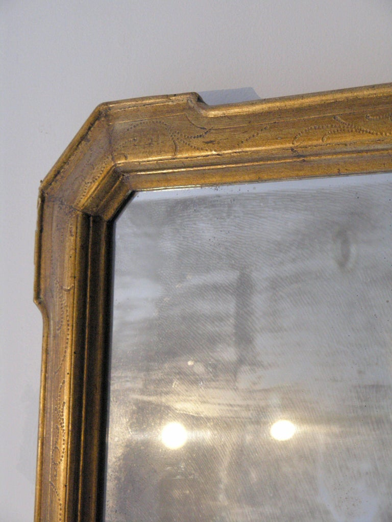 19th Century Louis Philippe Giltwood Mirror For Sale 1