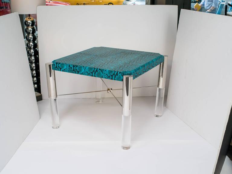 Python Print Modernist Game Table in the Manner of Karl Springer 2