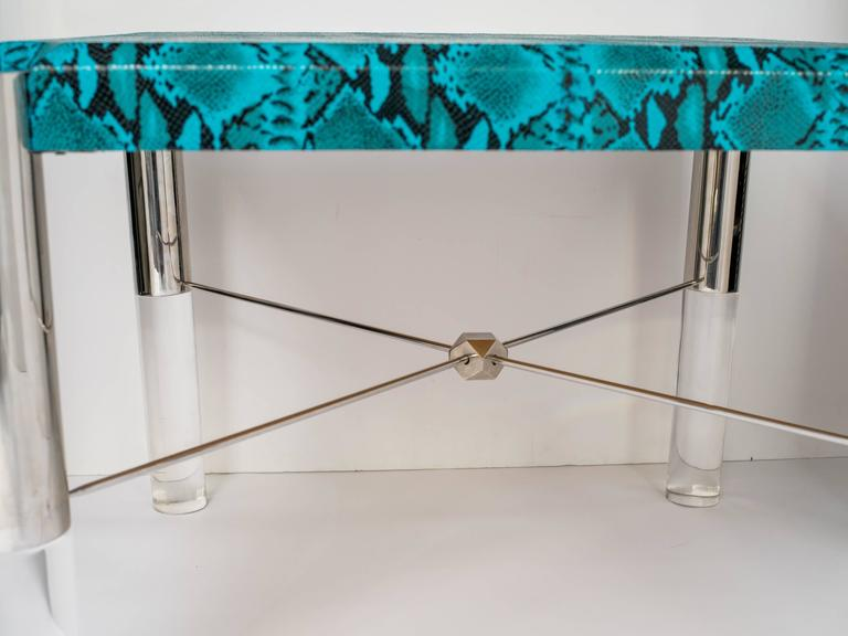 Python Print Modernist Game Table in the Manner of Karl Springer 7
