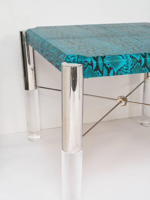 Python Print Modernist Game Table in the Manner of Karl Springer 3