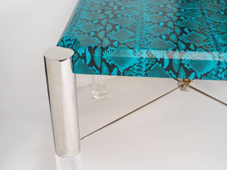 Python Print Modernist Game Table in the Manner of Karl Springer 9