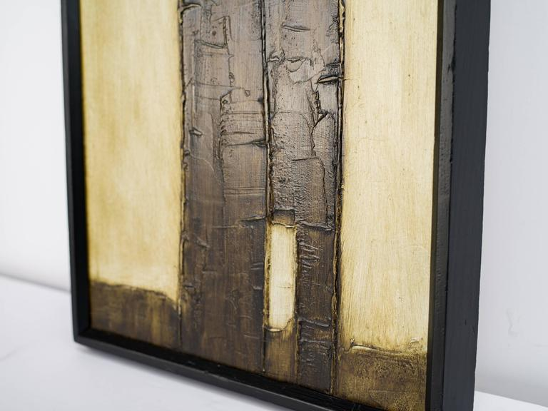 Brutalist Mid-Century Abstract Painting, Untitled 3